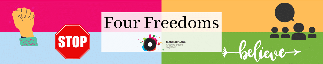 Four freedoms banner