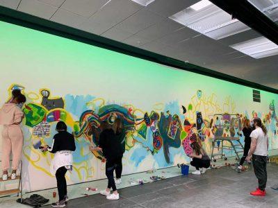 Walls of Connection Kunstlinie Almere